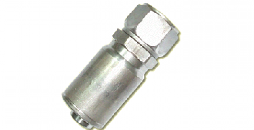 HOSE END FITTING- JIC 37° FEMALE SWIVEL, STAINLESS STEEL, STRAIGHT