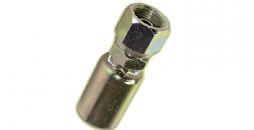 HOSE END FITTING- BSPP FEMALE PIPE SWIVEL, STRAIGHT